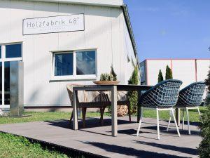 Holzfabrik48° Schauraum Mobliberica Outdoorgarnitur