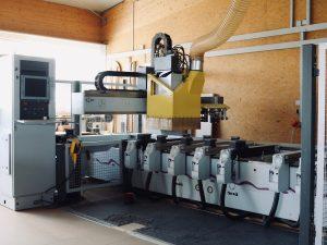 Holzfabrik48° Fertigung Bearnbeitungszentrum